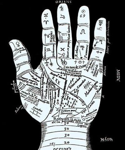 Quiromancia, el arte de adivinación leyendo las lineas y montes de las manos