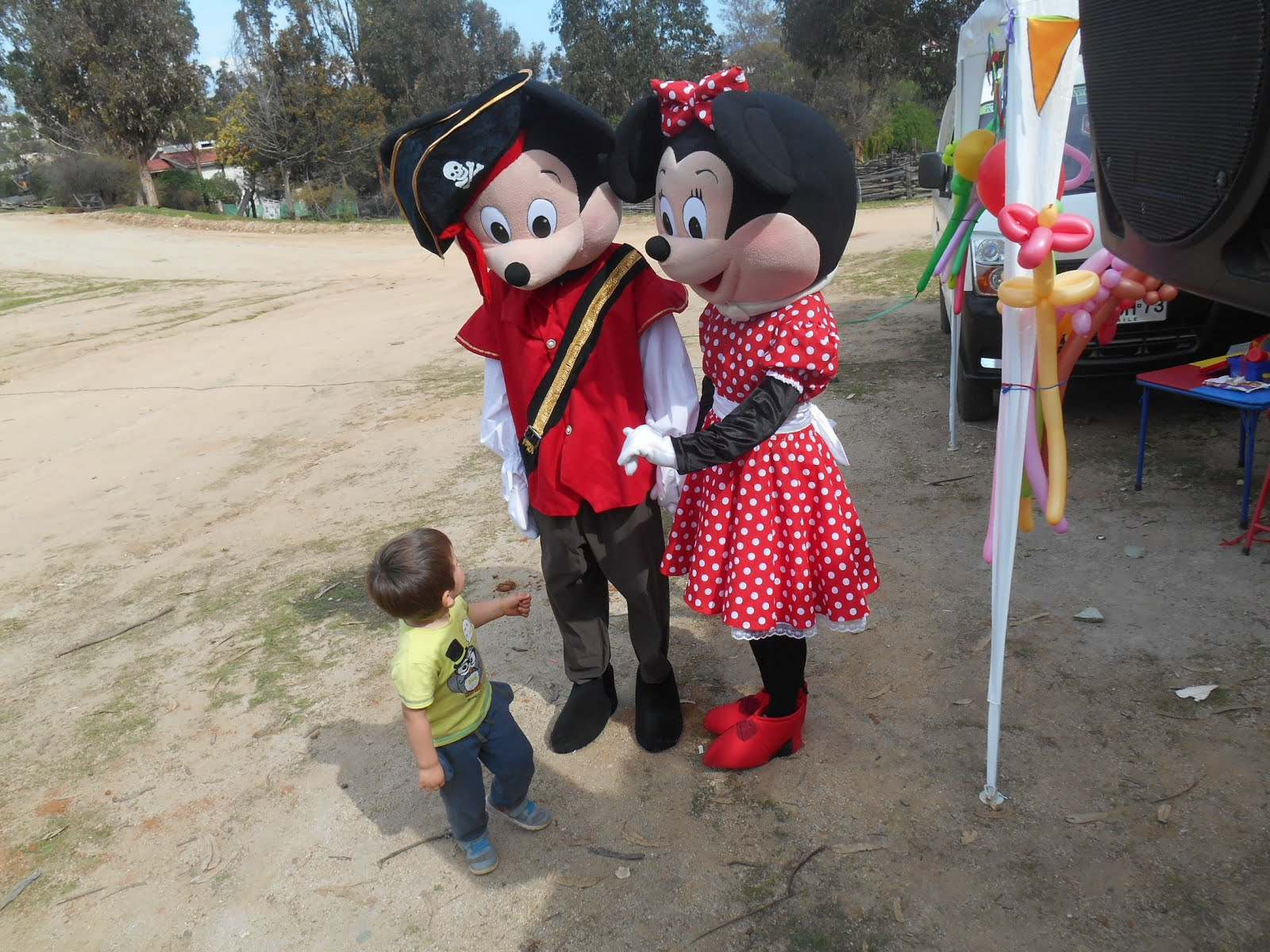 Mickey de Pirata & minnie