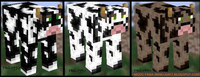 Vacas con las texturas del paquete Phil3992