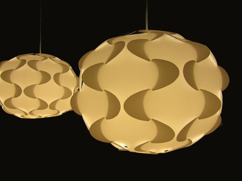 Maribleduca geometr a lamparas - Lamparas de papel ikea ...