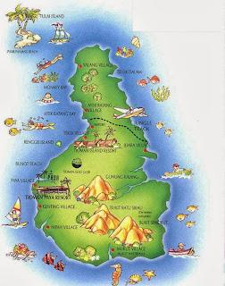 Peta Pulau Tioman, Kampung Genting, Kampung Salang
