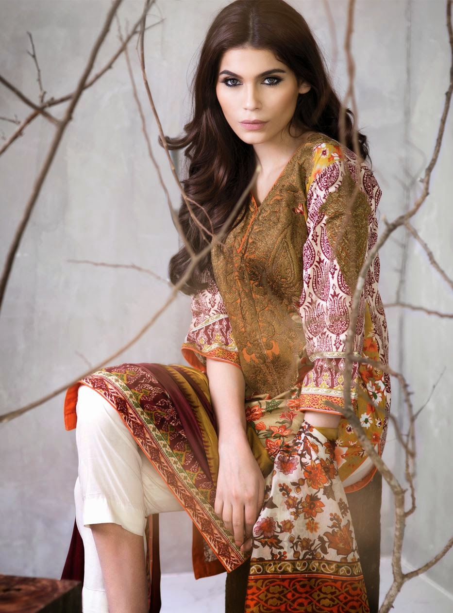 Sana safinaz lawn prints formal wear
