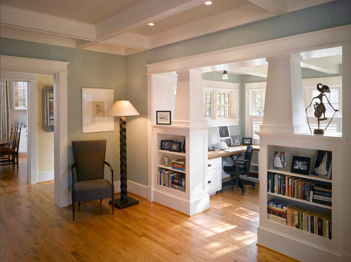 Craftsman Style Office Nook