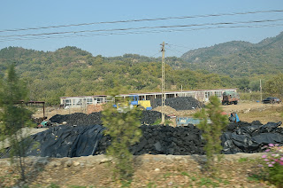 Coal piles in Huairou county