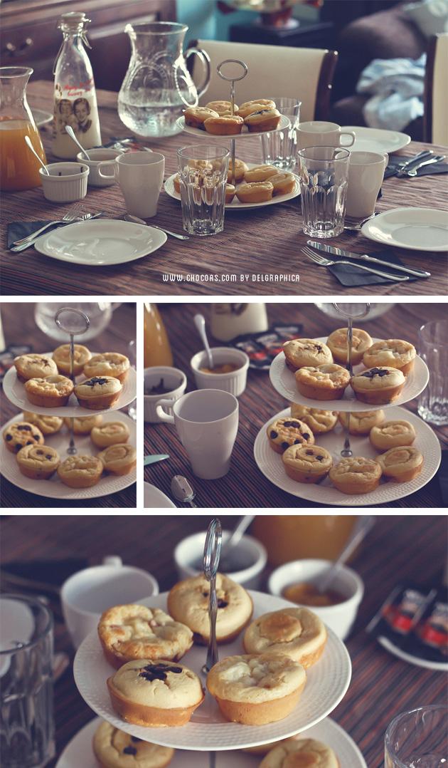 Desayuno de reyes - bollo de pancake o tortita americana