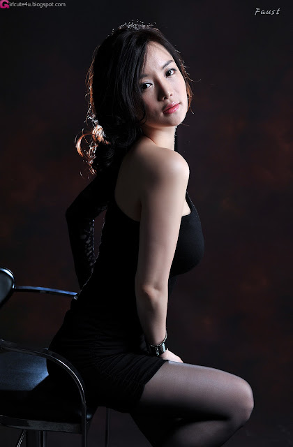 4 Im Ji Hye in Black-very cute asian girl-girlcute4u.blogspot.com