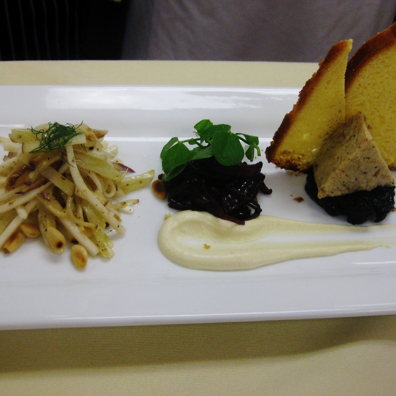 Rabbit rillette with prunes, red onion marmalade and grilled fennel ...