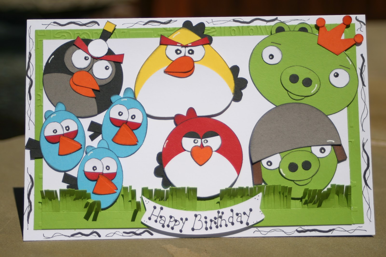 The Craftin B Angry Birds Birthday Card using the Cricut – Boy Birthday Cards