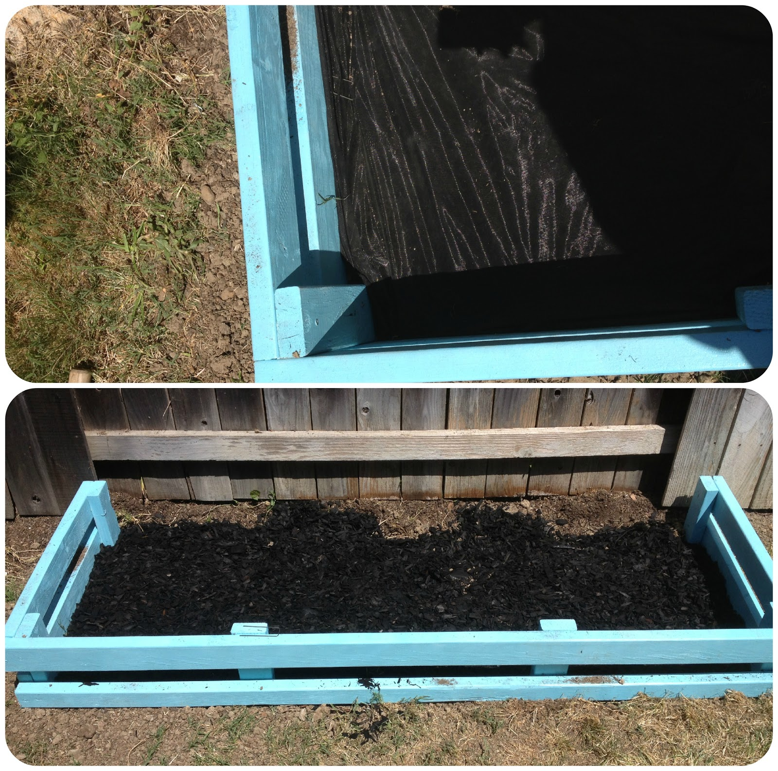Once the garden box was ready  we drilled holes in the bottom of three  galvanized drink tubs from the Home Depot. Measure Once  Cut Twice  Colorful Summer Garden Box Tutorial