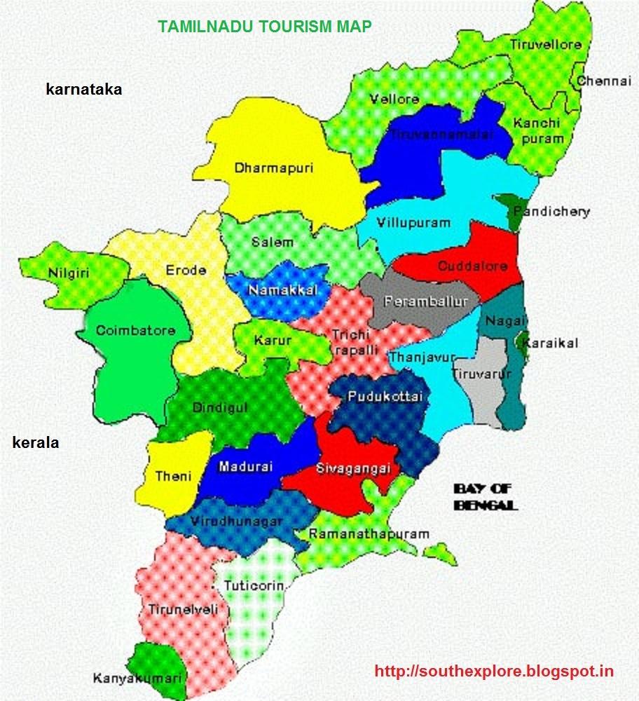 TAMILNADU TOURISM MAP TOURIST PLACES IN TAMILNADU ALL ABOUT - Tamilnadu map