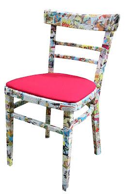 Diseño de silla forrada con papel