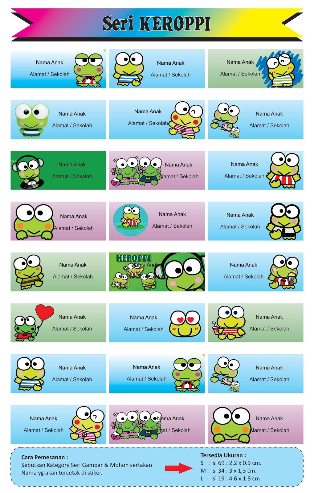 Stiker Label Sticker Name Waterproof Atau Nama Karakter Thursday 3 September 2015
