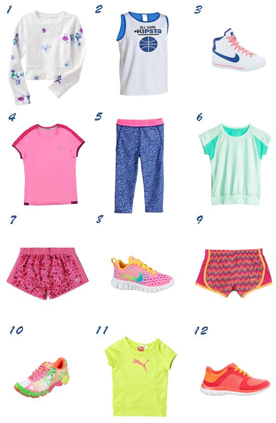 Moda deportiva para niña 2014