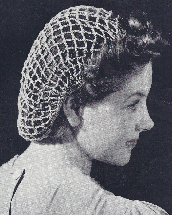 Crochet Hair Net : iRRSvintage-crochet-pattern-snood-hairnet-hair-net-fishnet.jpg