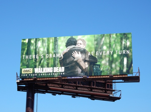 drama at every turn Walking Dead 2015 Emmy billboard