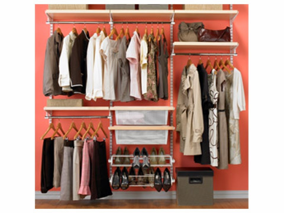 well-organized closet in which all of the clothes are visible