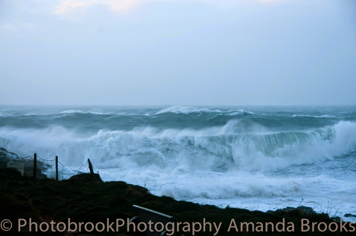 30ft waves in Cornwall