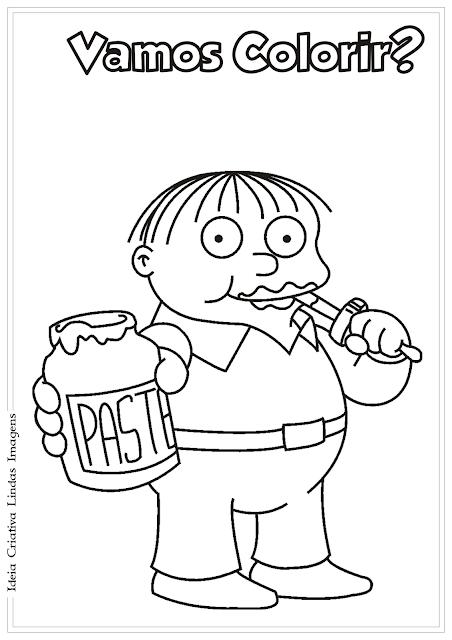 Os Simpsons desenho para colorir