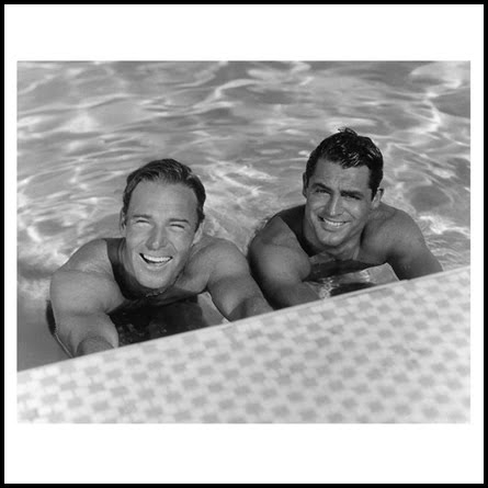 Randolph Scott and Cary Grant. Best lovers friends, in their Malibu home's ...