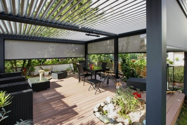 Bioclimatic terrace roofs made of aluminum houzz home for Terrace shed designs india