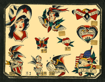 Speedboys: 1963 Vintage Traditional flash tattoo