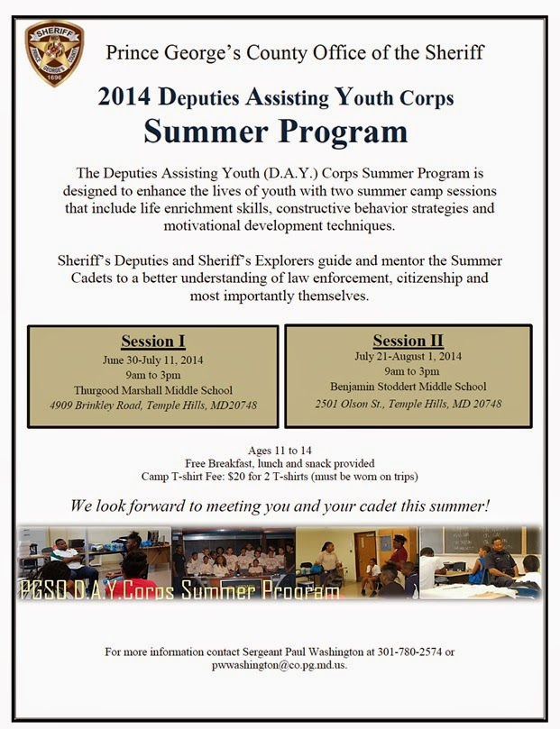 2014 Deputies Assisting Youth Corps Summer Program