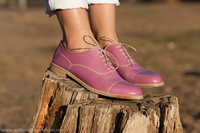 Blogger adicta a los zapatos con bluchers de la firma italiana Fratelli Rossetti