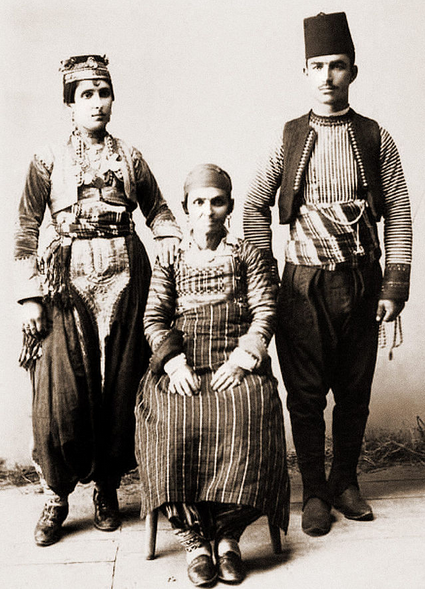Famille albanaise de Skopje vers 1910