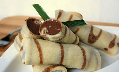 Resep membuat kue dadar gulung pisang coklat keju