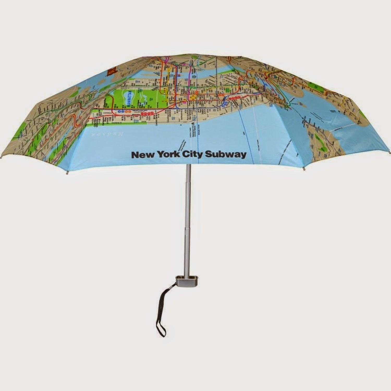 مظلة بها خريطة