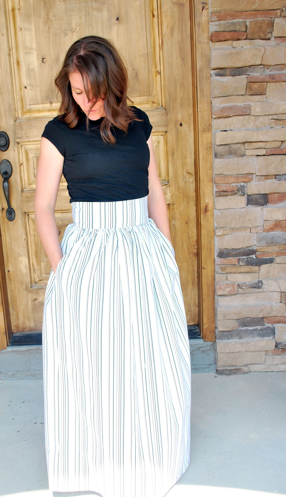 Larissa Another Day: High Waist Maxi Skirt from Bed Sheet
