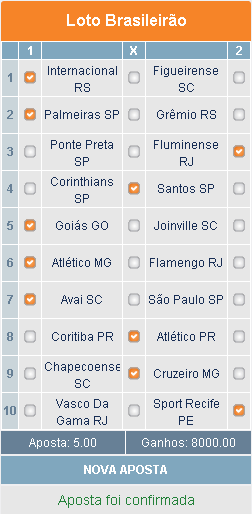 LOTOMOTION BRASILEIRÃO - 27ª RODADA