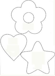 moldes para feltro e e.v.a de coração,feltro e estrela