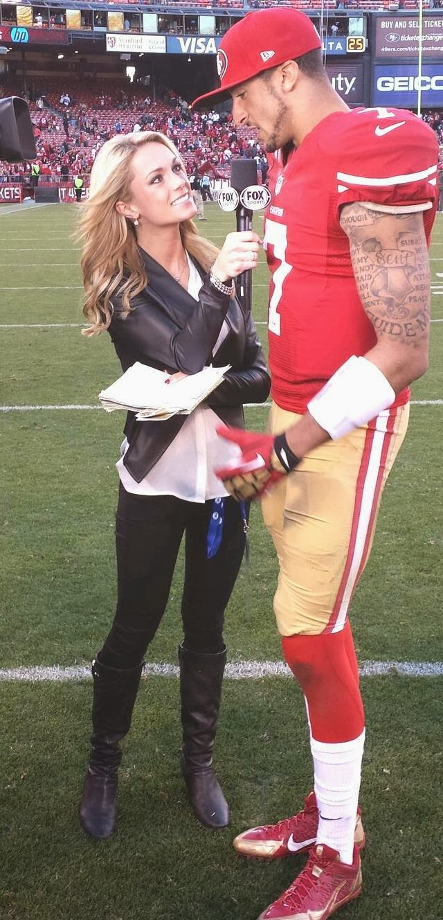 Fox sports one s molly mcgrath covers football in black leather boots