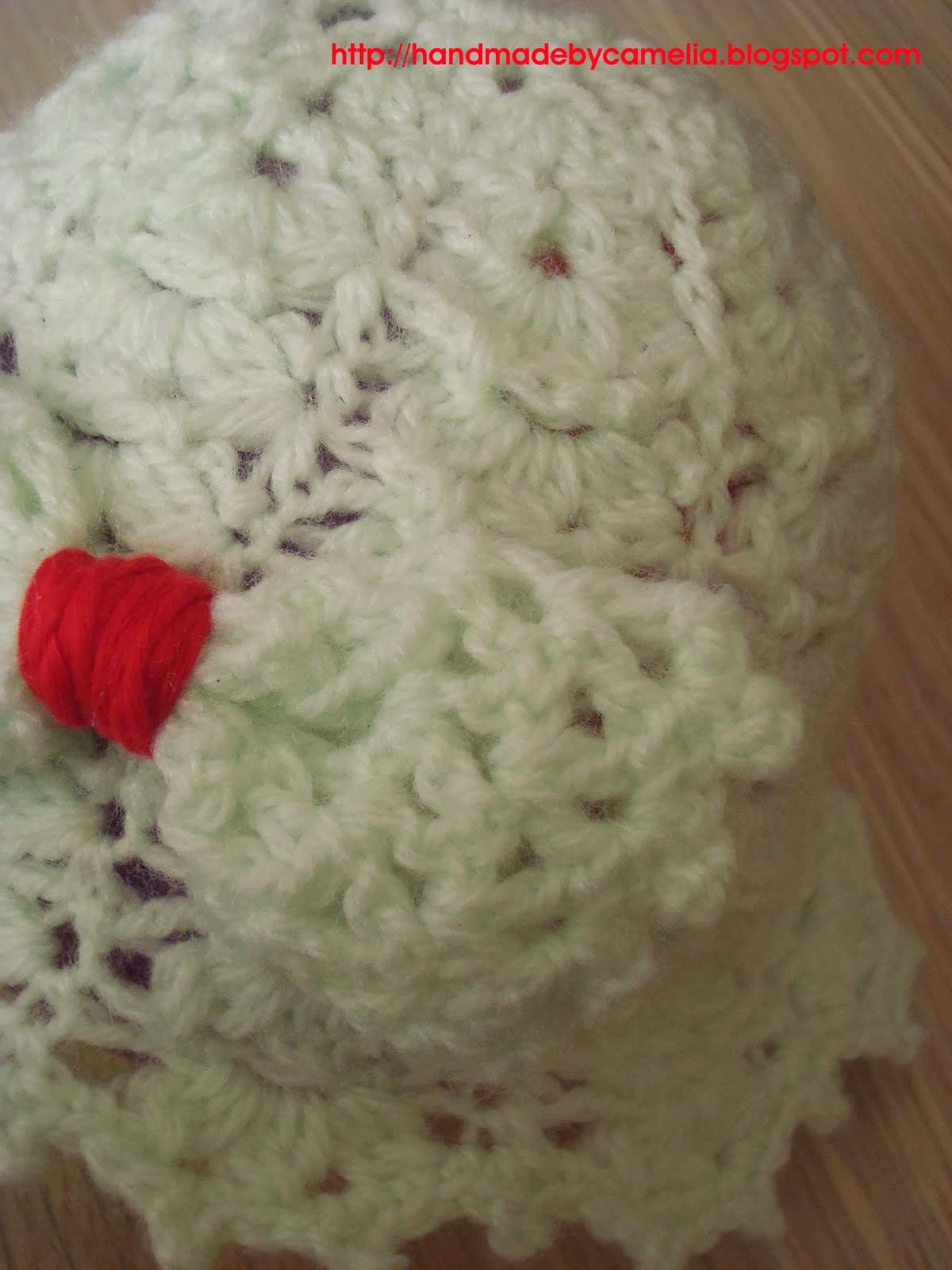 Crochet Baby Hat Pattern With Bow : Handmade by Camelia: Pattern & Finished product: Crocheted ...