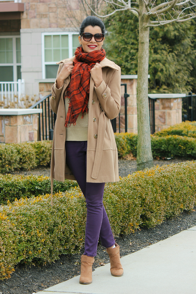 Zara Tartan Scarf, Zara Shawl Scarf, Kenneth Cole Coat
