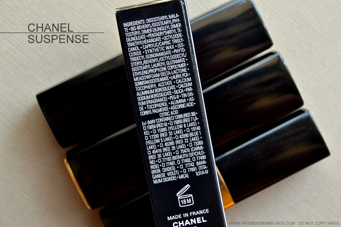 Rouge Coco Shine Lip Color Suspense 80 Avant Premiere de Chanel Makeup Collection 2013 Indian Beauty Blog Darker Skin Photos Swatch Review FOTD Ingredients