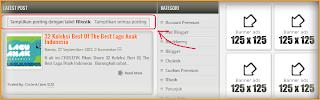 Cara Menghilangkan Tulisan Tampilkan Posting Dengan Label Pada Blogspot