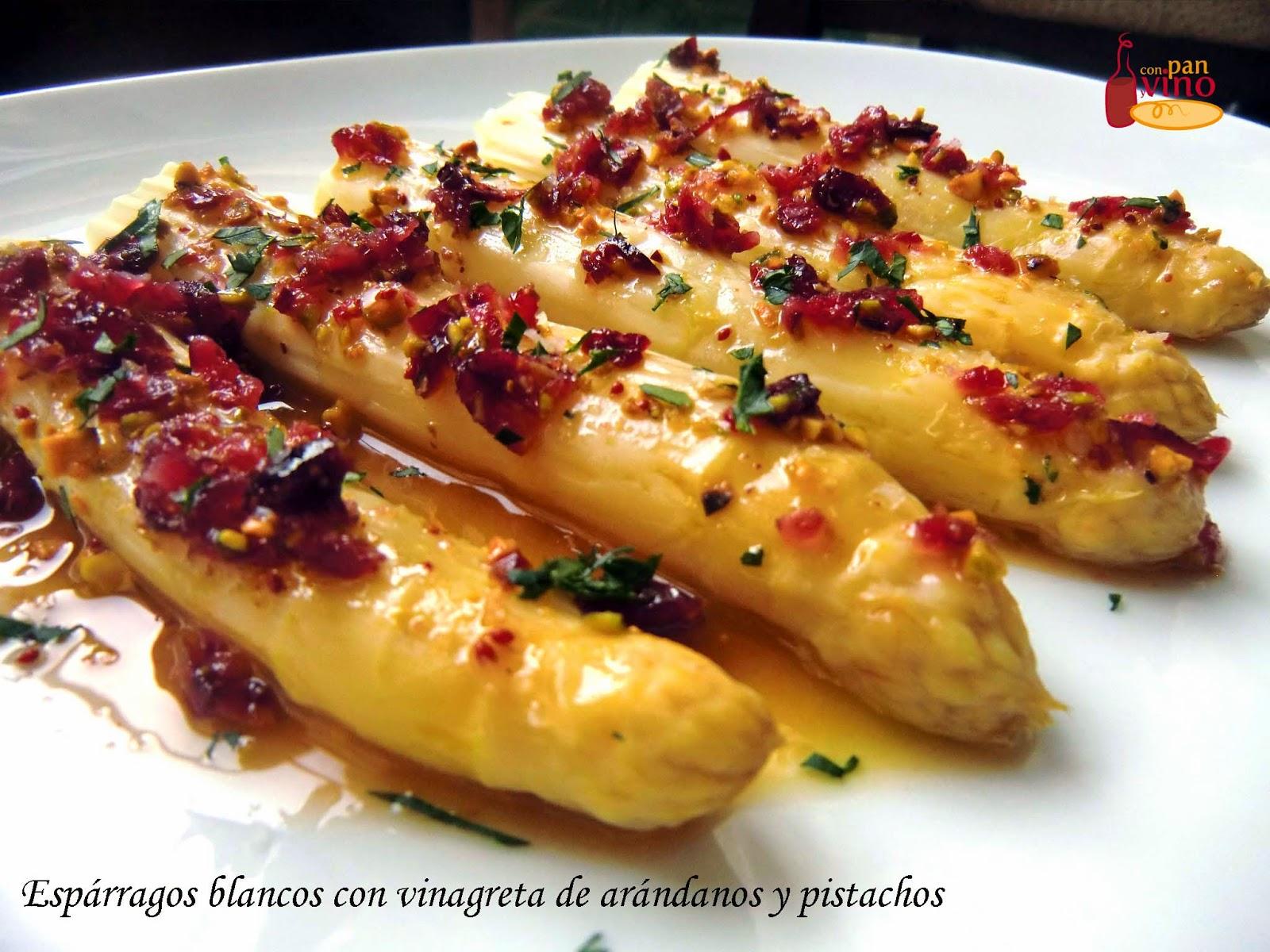 Con pan y vino esparragos blancos con vinagreta de - Comidas con esparragos ...