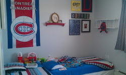 Our son's train bedroom