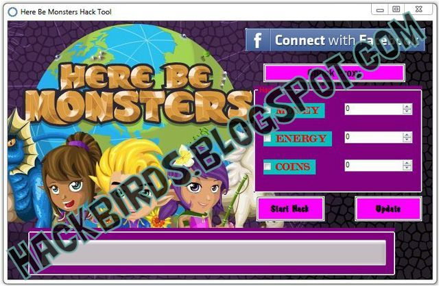 Here be Monsters Facebook Game