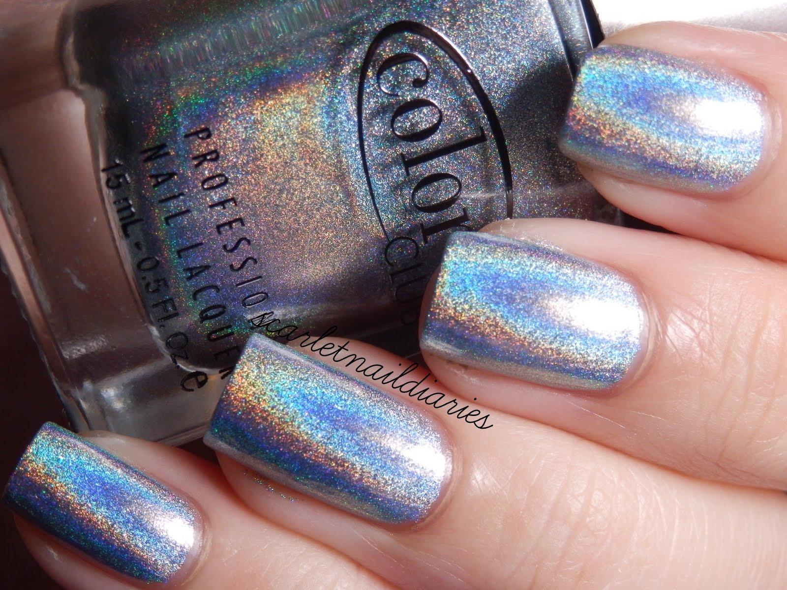 Color Club Blue Heaven Halo Hues Light Holographic Holo Nail Polish 979 On The Hunt