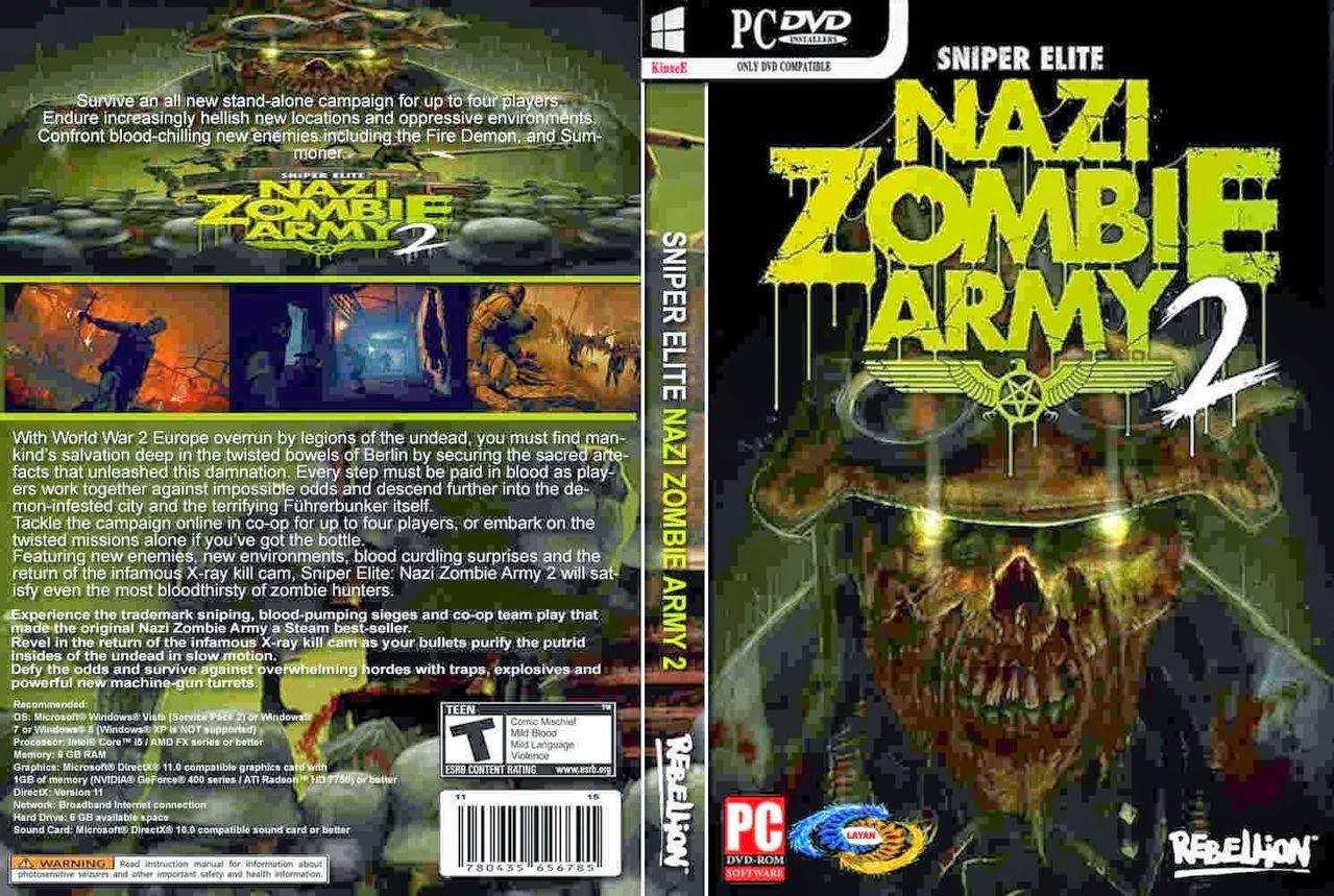 تحميل لعبة Sniper Elite Nazi Zombie Army 2 برابط مباشر