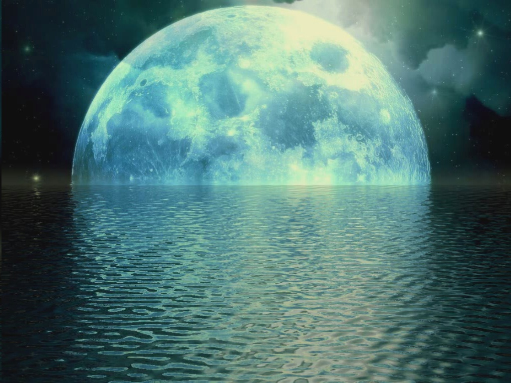 WALLPAPERS MOON SET