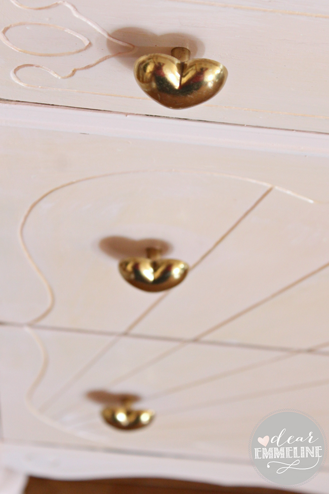 http://dearemmeline.blogspot.com/2013/12/blush-and-gold-dresser-redo.html