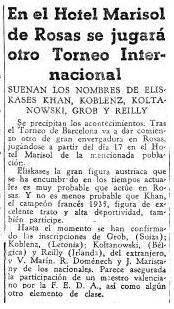 Artículos en El Mundo Deportivo de 1935