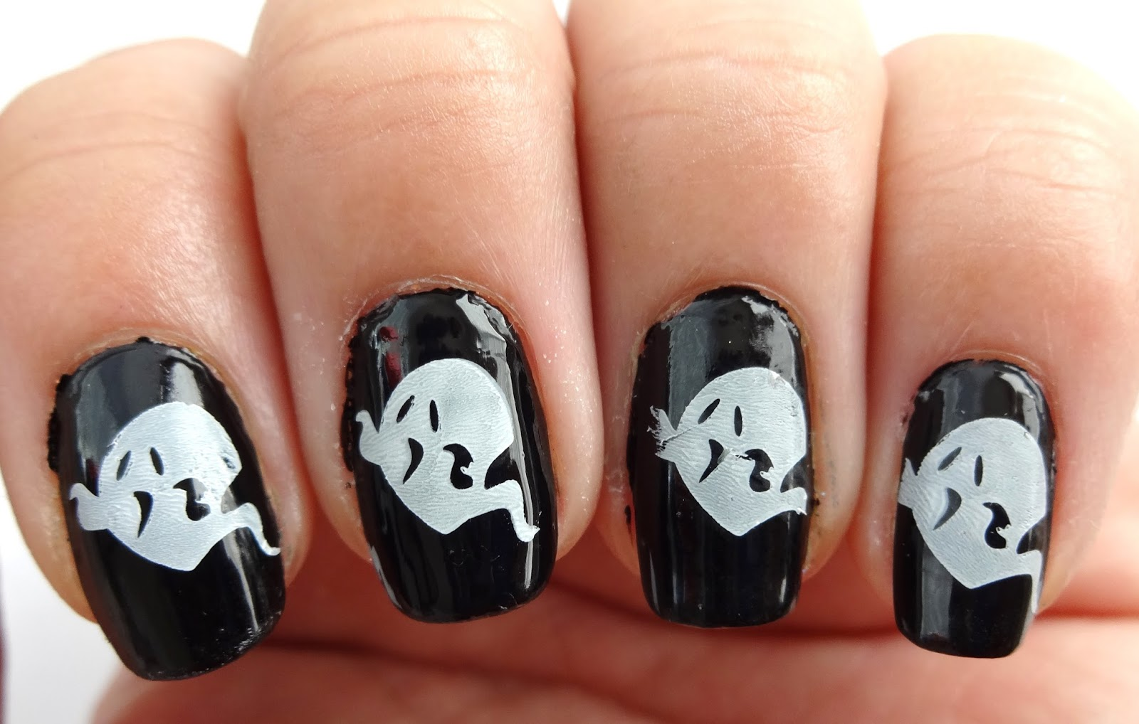 Ghost Stamped Nails