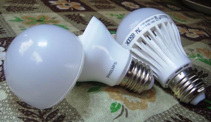 Perbandingan Rangkaian Lampu LED Phillip Vs LED KW