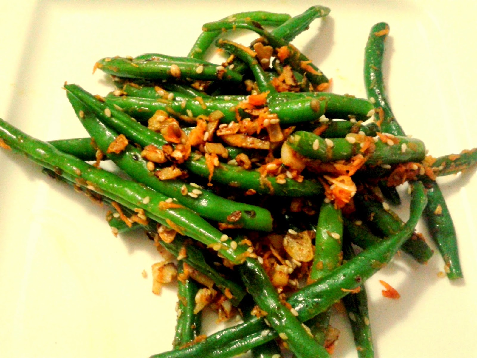 http://agoodstuff.blogspot.in/2014/07/green-beans-with-garlic-sesame.html