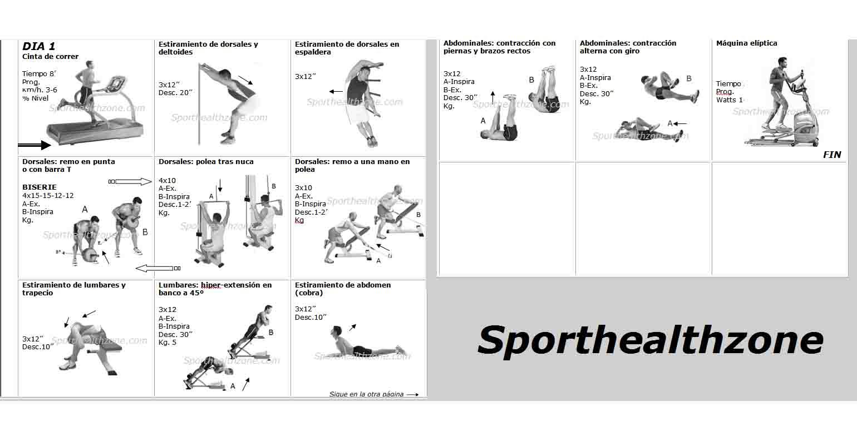 Ejercicios fitness wellness rutina de ejercicios gimnasio for Gimnasio las tablas